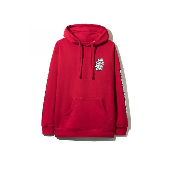 ASSC Blocked Me Hoodie Red - Swan Fashion Store