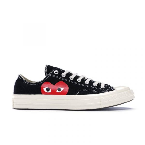 Converse Chuck Taylor All-Star 70s x Comme des Garcons PLAY Black - Swan Fashion Store