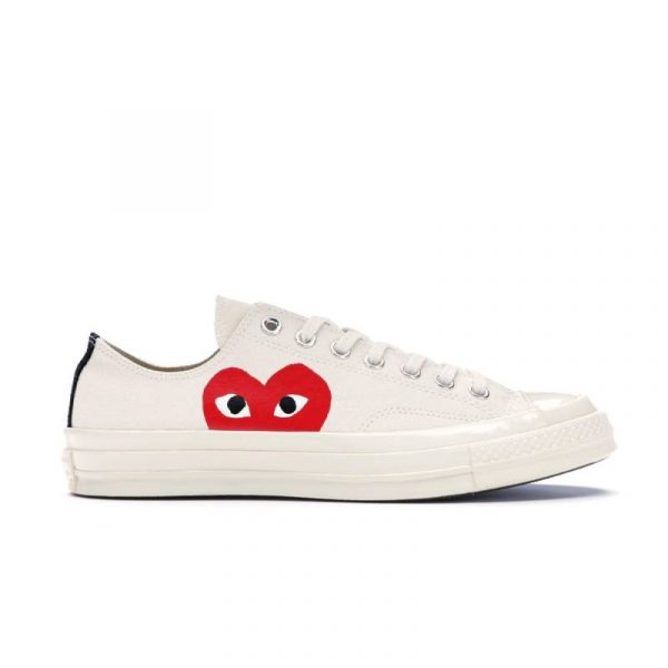 Converse Chuck Taylor All-Star 70s x Comme des Garcons PLAY White - Swan Fashion Store