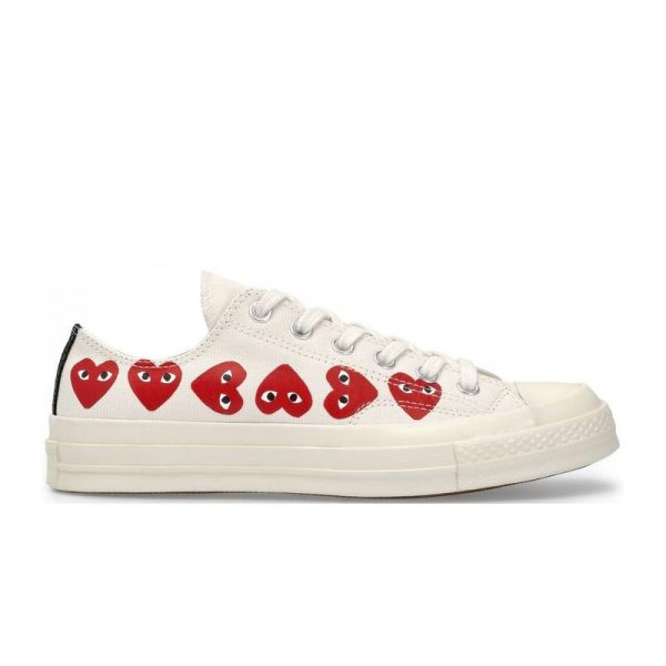 Converse Chuck Taylor All-Star 70s x Comme des Garcons Play Multi-Heart White - Swan Fashion Store