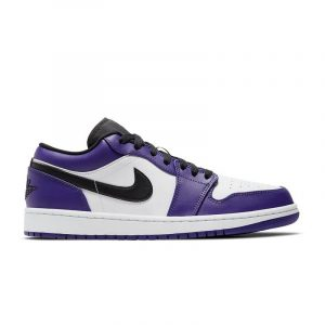 Jordan 1 Low Court Purple White - Swan Fashion Store
