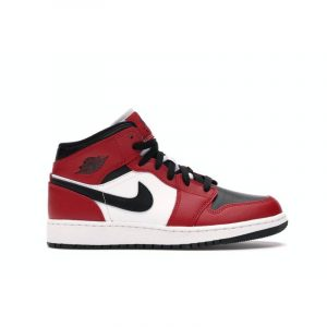 Jordan 1 Mid Chicago Black Toe (GS) - Swan Fashion Store
