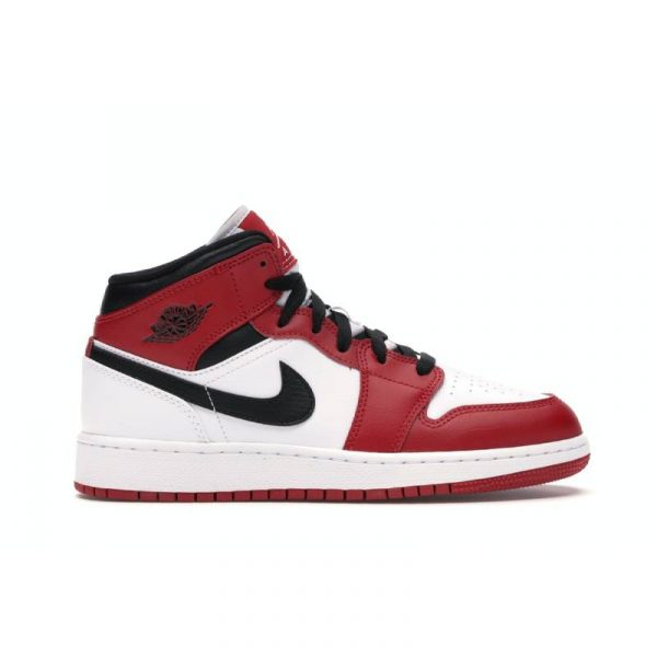 Jordan 1 Mid Chicago White Toe (GS) - Swan Fashion Store