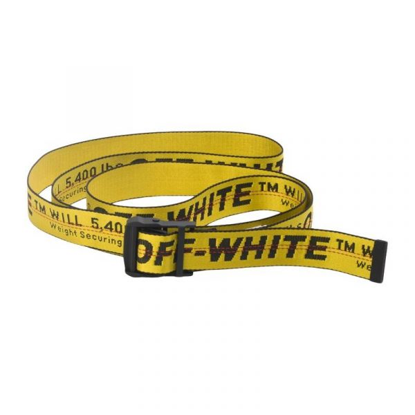 Off-White Industrial Belt Yellow - Swan Fashion Store