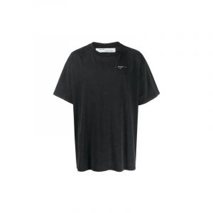 Off-White Oversized Abstract Arrows Embroidered Tee Black - Swan Fashion Store