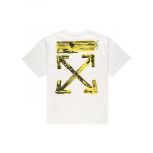 Off-White Oversized Acrylic Arrows Tee White - Swan Fashion Store
