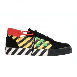Off-White Vulc Low Black Yellow Green - Swan Fashion Store