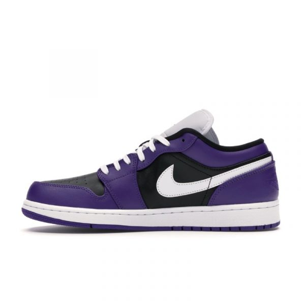 Jordan 1 Low Court Purple Black 2
