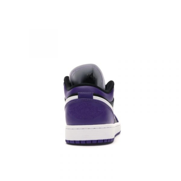 Jordan 1 Low Court Purple Black 3
