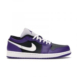 Jordan 1 Low Court Purple Black