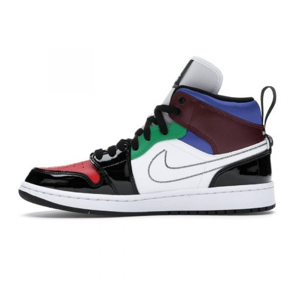Jordan 1 Mid SE Black White Multi-Color (W) 2