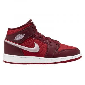 Jordan 1 Mid SE Red Quilt (GS)