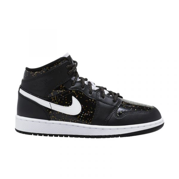 Jordan 1 Mid Black Speckle (GS)