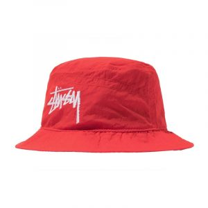 Nike x Stussy Bucket Hat Habanero Red