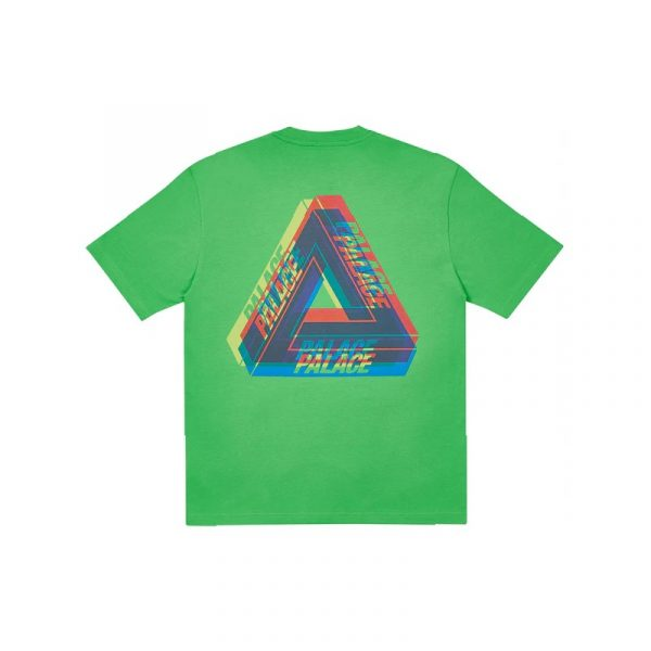 Palace Tri-Ferg Colour Blur T-Shirt Light Lime