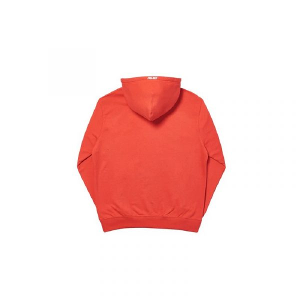 Palace Felt P Hoodie Red 1