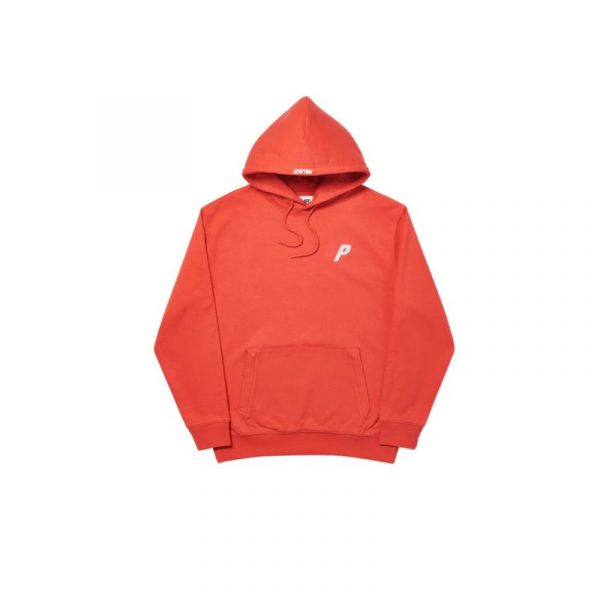 Palace Felt P Hoodie Red