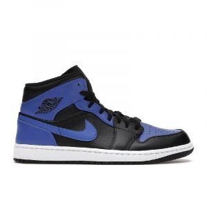 Jordan 1 Mid Hyper Royal Tumbled Leather