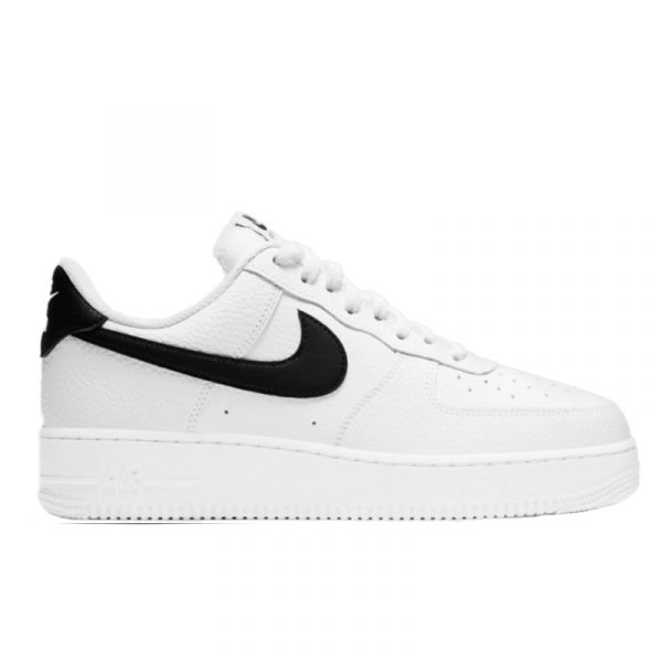Nike Air Force 1 '07 White Black Pebbled Leather